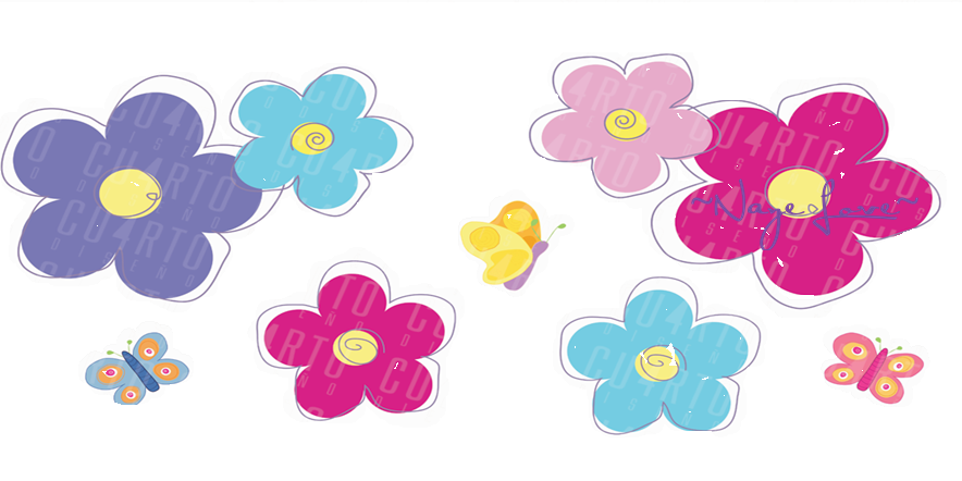 Flores En Caricatura Png