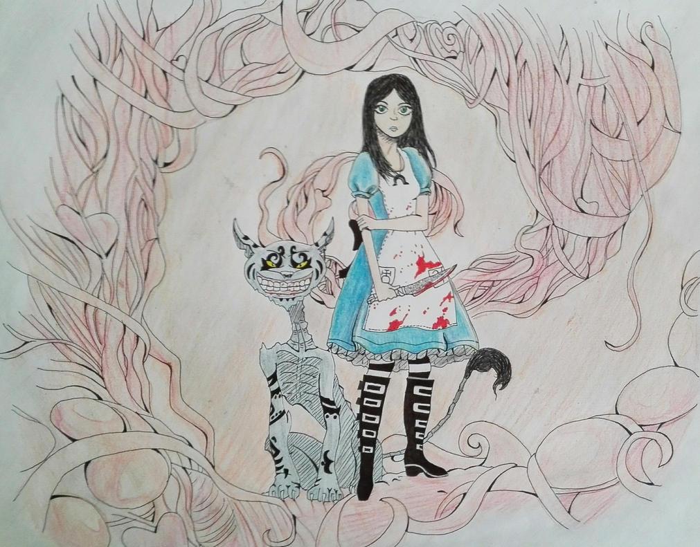 Alice y El gato de chesire by lGalleetita