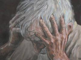 an old man by ViLebedeva