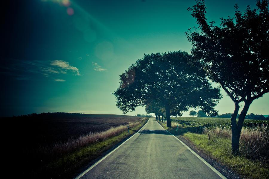 morning road by DanielGliese