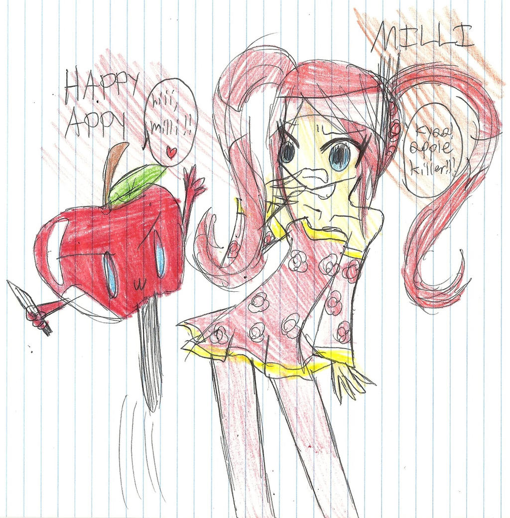 Nick Jr terrors- Happy Appy and milli by PinkamenaRocksCute13
