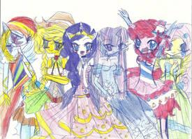 AT THE GALA- .:anime style:. by PinkamenaRocksCute13