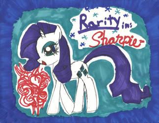 Rarity- Sharpie Exclusive by PinkamenaRocksCute13