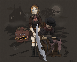Blood Hunters of Old Piltover? [2/3] by Fulcrumb