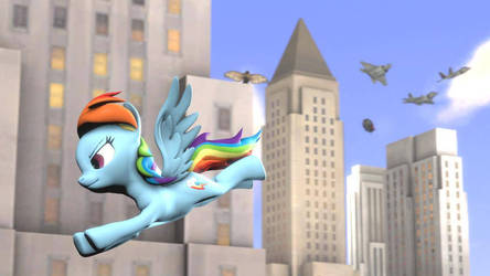 Rainbow Dash City Flight (Rainbow Dash Day)