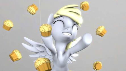 (Pony SFM) Derpy's Raining Muffins!!