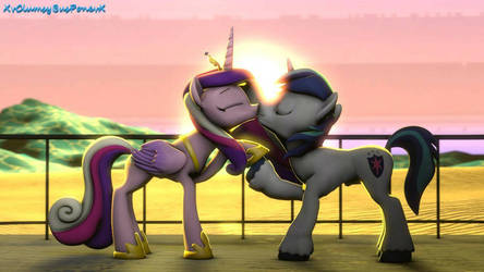 Shining Armor  Cadance Sunset Love