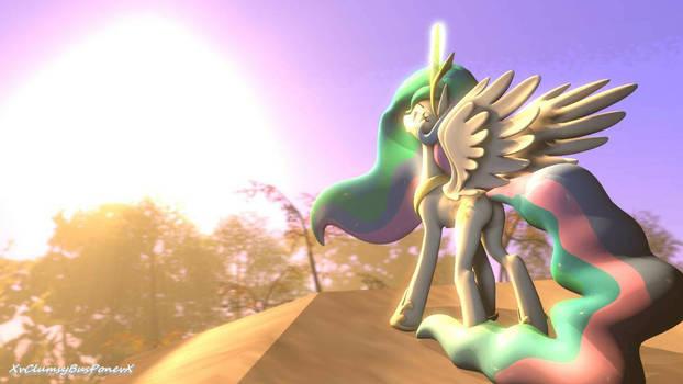 Princess Celestia Raises The Sun