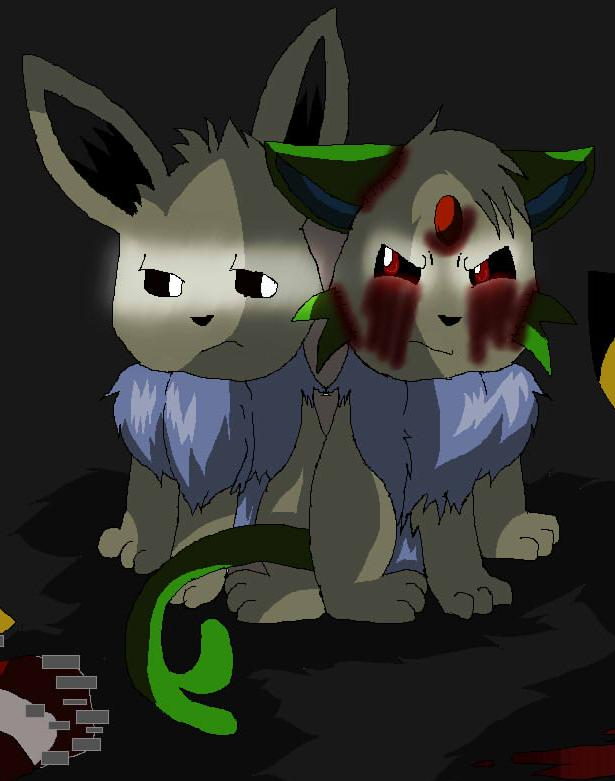 shiny eevee and eeee 3 out 6 by inuyashathegreat1 on