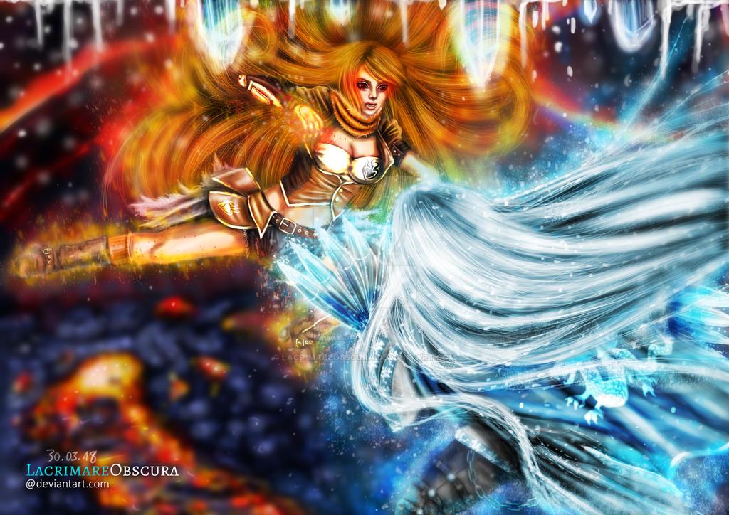 Elemental Showdown Version 2 (Commission) by LacrimareObscura