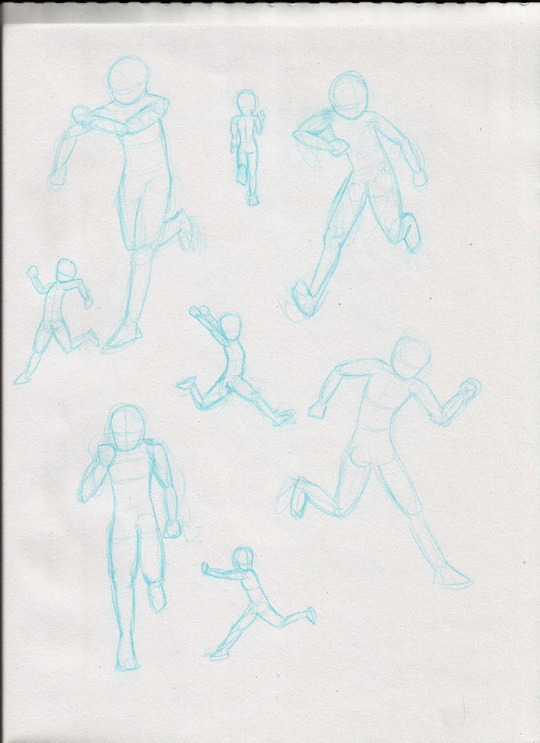 Running Poses - Sketches by RynnLight