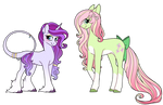 Rarity and Fluttershy Redesigns