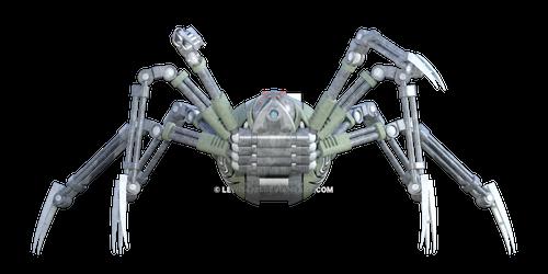 Metal Robot Spider Png Overlay.