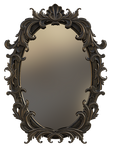 Free Vintage Mirror png overlay.