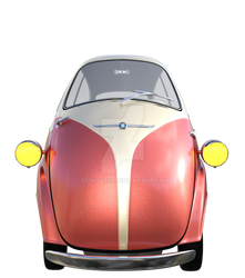 Red Egg Car, Png Overlay.