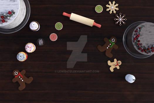 Christmas Table Digital Backdrop / Background.
