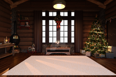Christmas Eve PNG Backdrop, Transparent windows.