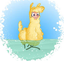 Paprika the swimming duck