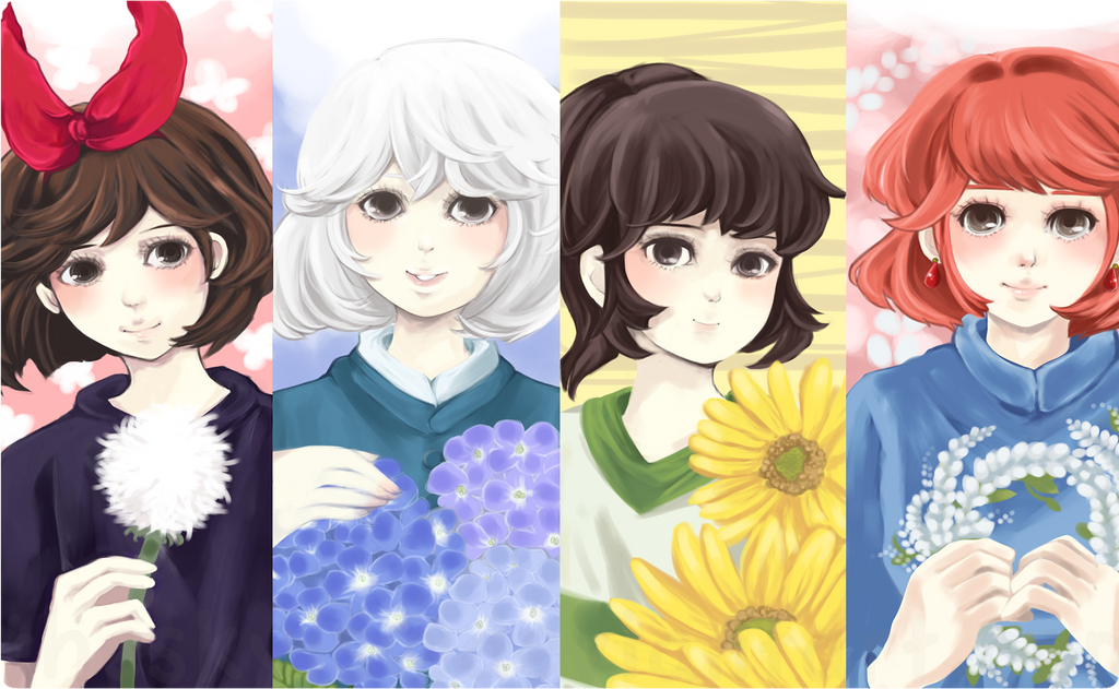 miyazaki girls by theskyis