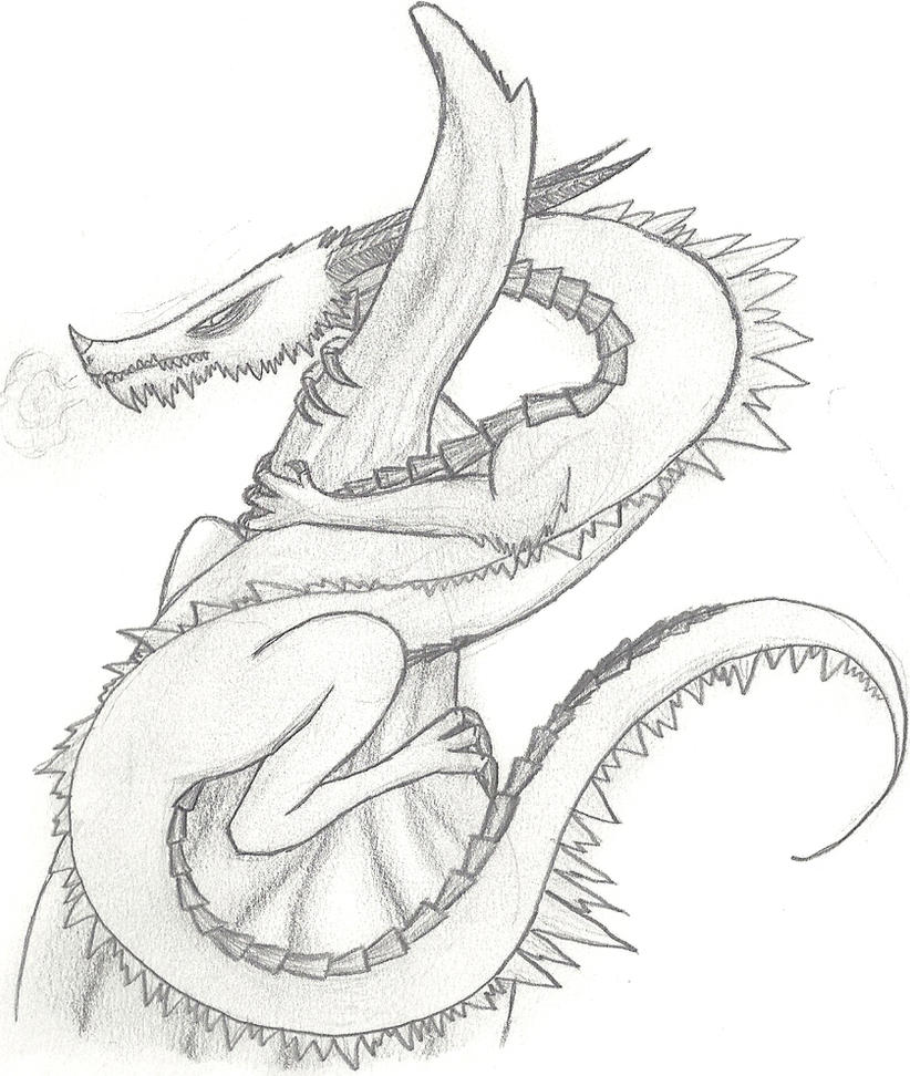 Ice Dragon-pencil drawing by xRaggsokkenx on DeviantArt