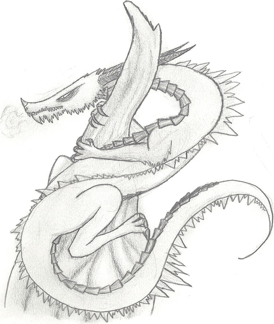 ice dragon pencil drawing by xraggsokkenx on deviantart