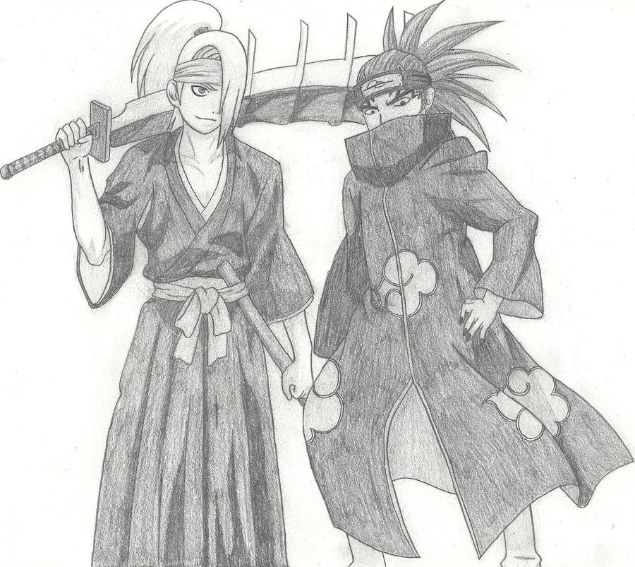 Deidara and Renji by xRaggsokkenx on DeviantArt