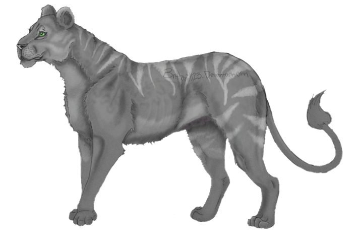 Grey stripey lioness by Brittani1123