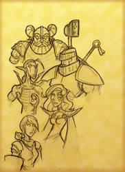 Fantasy Warriors by mindflenzing