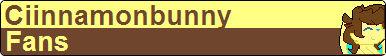 Ciinnamonbunny Fan Button
