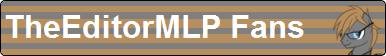 TheEditorMLP Fan Button V2 by XxSolarMoonclipsexX
