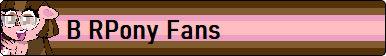 B RPony Fan Button