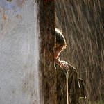 Her last summer rain by icstefanescu