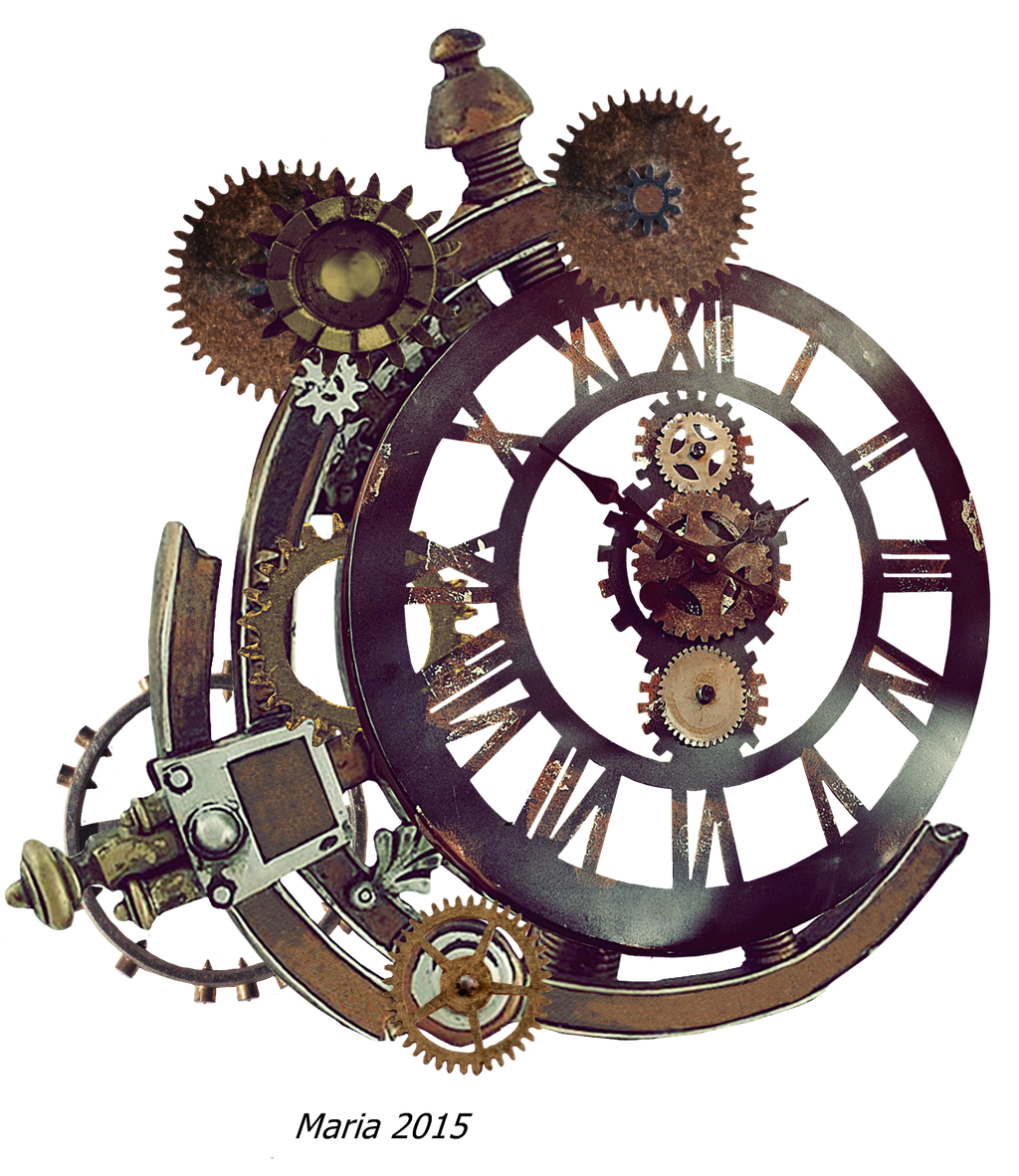 Steampunk Clock Stock Photo by MariaRaute2