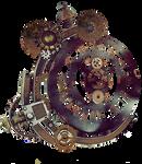 Steampunk Clock Stock Photo