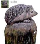 wood sculpture Hedgehog