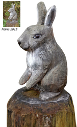 wood sculpture Rabbit