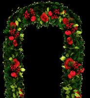 flower garland stock