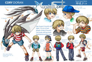 Cory Character Design Sheet by spiritualfeel