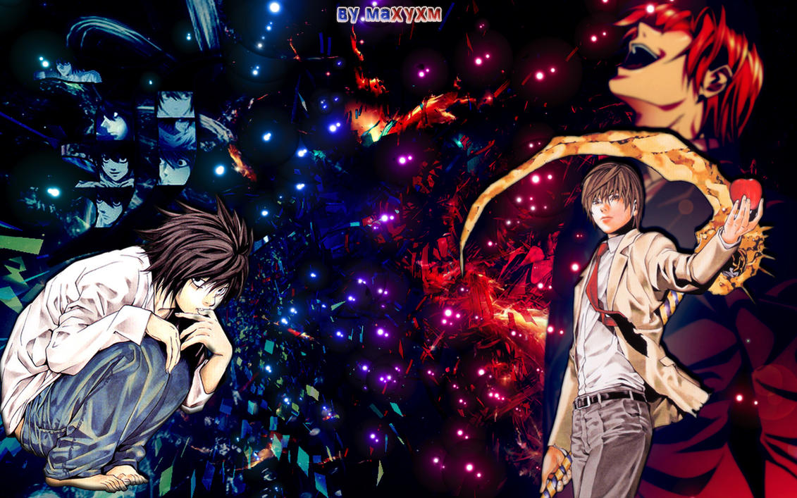 Death Note images L and Light wallpaper and background