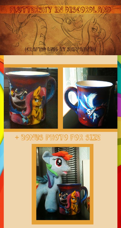Fluttershy in Discordland [Handmade Mug] by Shivannie