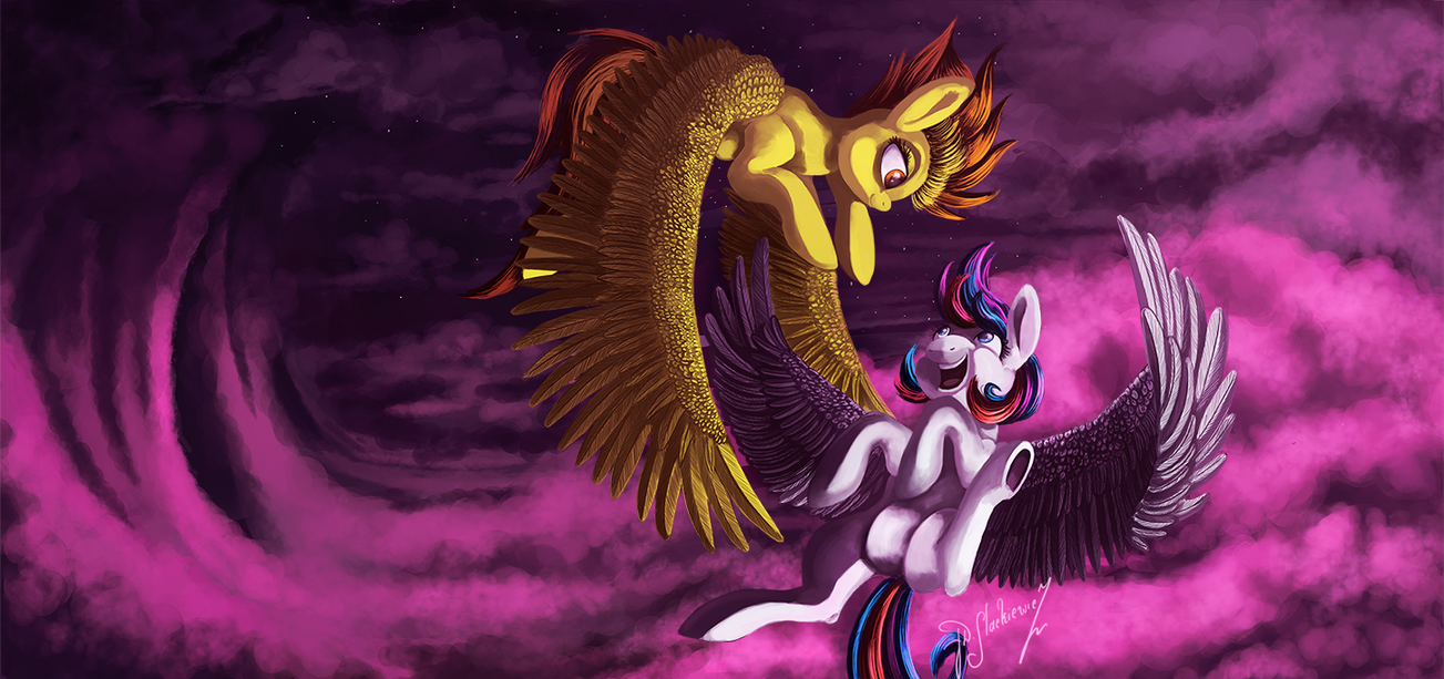 You and Me in the Sky by Shivannie