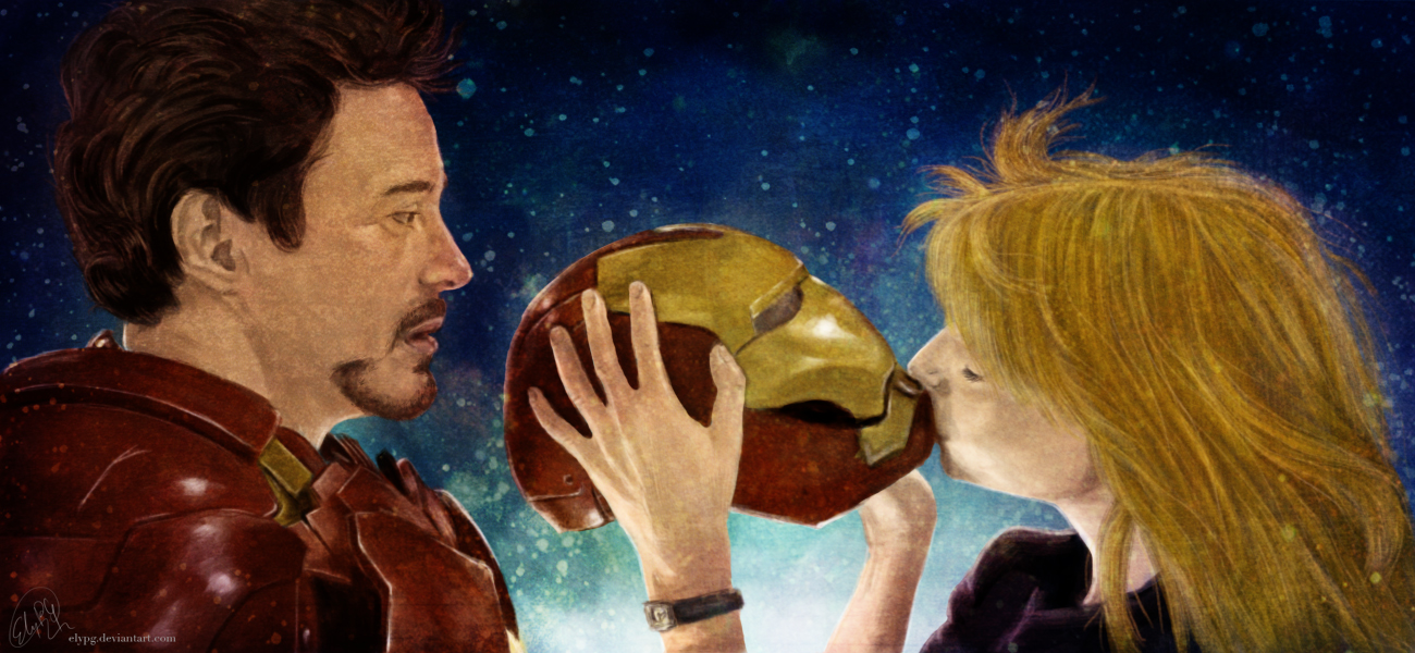 Iron Man and Pepper Potts by ElyPG
