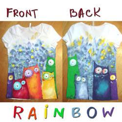 Rainbow cats by bemain