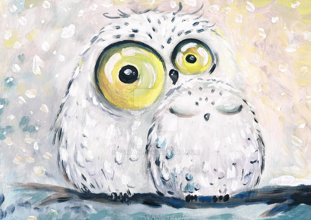 winter owls by bemain