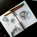 owls sketch