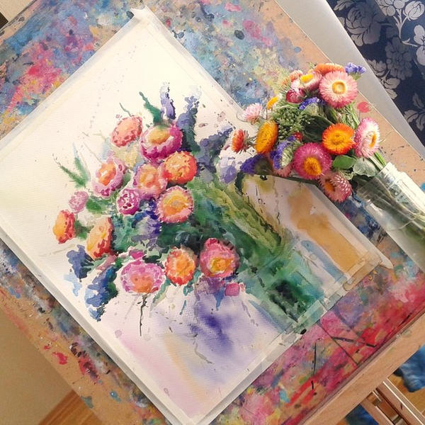summer flowers by bemain