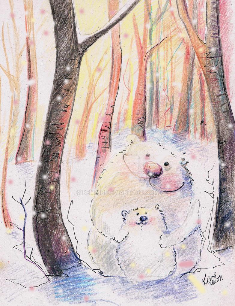 Bears in wood by bemain