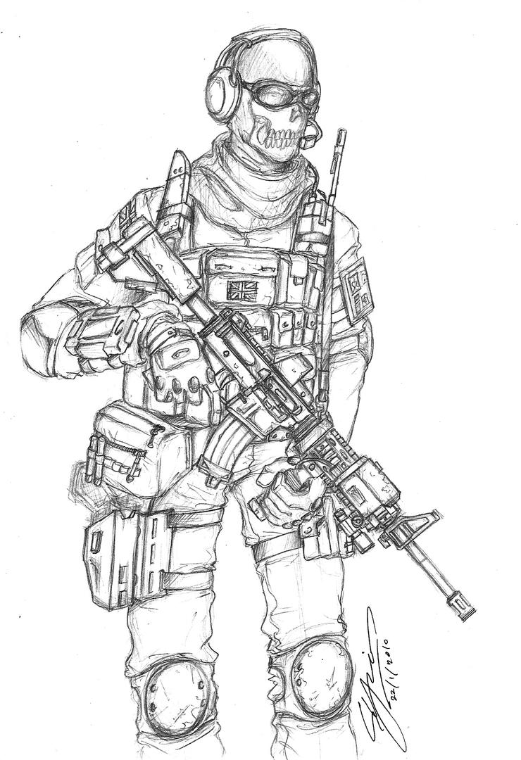 Coloring Pages Of Advanced Warfare : Call of duty coloring pages modern warfare