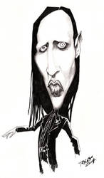 marilyn Manson Caricature by ImRoGeR