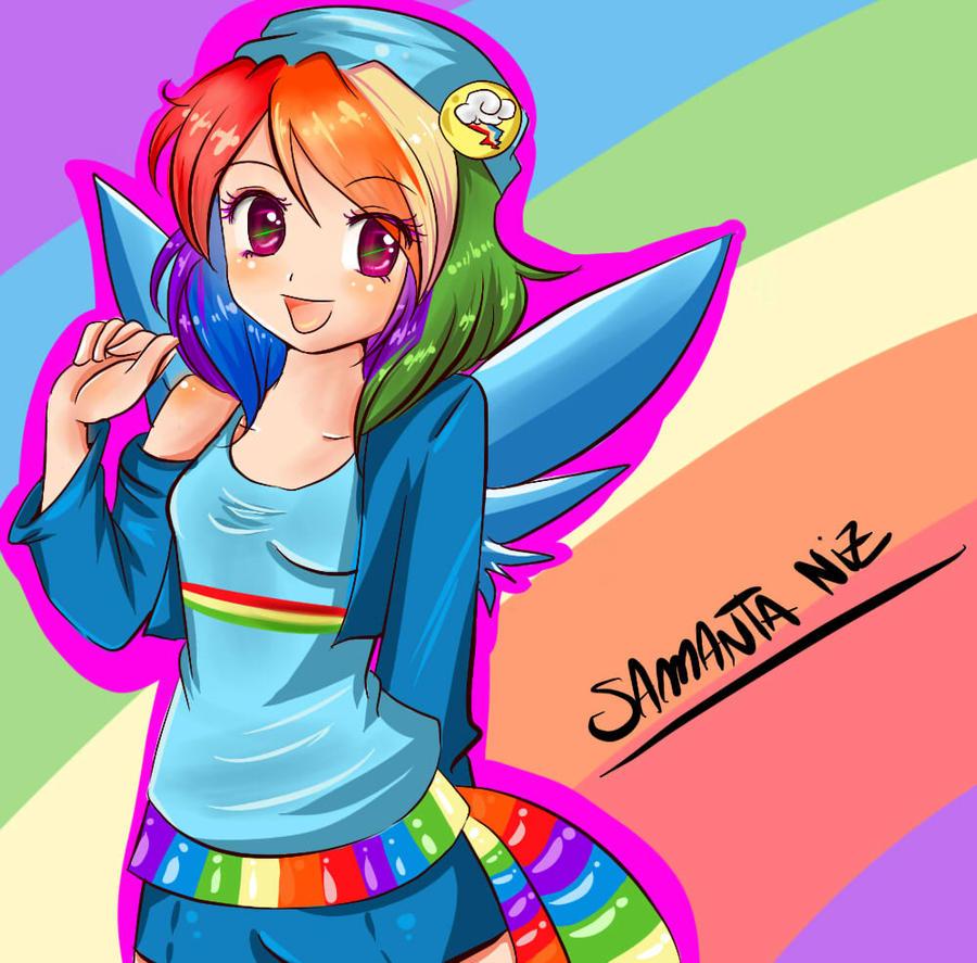my Little Pony Human Version Rainbow Dash Rainbow Dash de my Little Pony